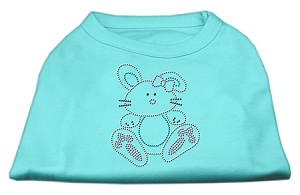 Bunny Rhinestone Dog Shirt Aqua XL (16)